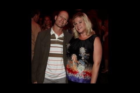Director Neil Hunter with Screen's Wendy Mitchell